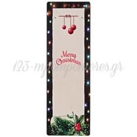 """ΞΥΛΙΝΗ ΕΚΤΥΠΩΜΕΝΗ ΠΛΑΤΗ ΓΙΑ ΓΟΥΡΙΑ """"MERRY CHRISTMAS"""" 9Χ28CM - ΚΩΔ:M4541-AD"""