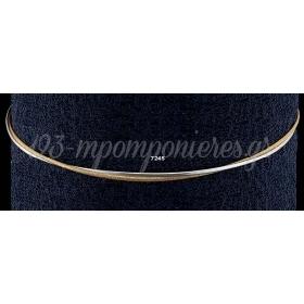 Στεφανα Γαμου Οικονομικα Με Διπλη Βεργα Χρυση Και Ασημι - ΚΩΔ:N7245-G