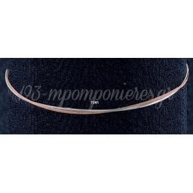 Στεφανα Γαμου Οικονομικα Σφυριλατα Σε Ασημι Και Rose Gold Χρωμα - ΚΩΔ: N7261-G