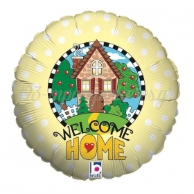 45cm WELCOME HOME FOIL ΜΠΑΛΟΝΙ - ΚΩΔ:16825-BB