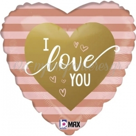 45cm ΚΑΡΔΙΑ I LOVE YOU ΡΙΓΕ FOIL ΜΠΑΛΟΝΙ - ΚΩΔ:26071-BB