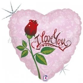 45cm I LOVE YOU ΚΑΡΔΙΑ ΤΡΙΑΝΤΑΦΥΛΛΟ FOIL ΜΠΑΛΟΝΙ - ΚΩΔ:86859-BB