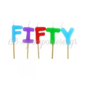 """Πολυχρωμα Κερακια """"Fifty"""" - ΚΩΔ:Tp0034-Bb"""