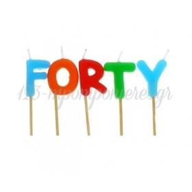 """Πολυχρωμα Κερακια """"Forty"""" - ΚΩΔ:Tp0033-Bb"""