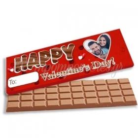 """ΣΟΚΟΛΑΤΑ ΓΙΓΑΣ ΣΕ ΧΑΡΤΙΝΟ ΚΟΥΤΑΚΙ ΜΕ ΦΩΤΟΓΡΑΦΙΑ """"Happy Valentine's Day"""" - ΚΩΔ:VS001-5-BB"""