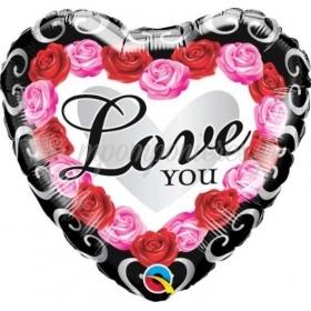 46cm ΤΡΙΑΝΤΑΦΥΛΛΑ LOVE YOU FOIL ΜΠΑΛΟΝΙ - ΚΩΔ:54858-BB