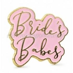 """ΜΕΤΑΛΛΙΚΗ ΚΑΡΦΙΤΣΑ BACHELORETTE """"Bride's Babes"""" - ΚΩΔ:PN4-BB"""