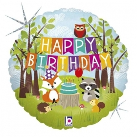 ΜΠΑΛΟΝΙ FOIL 18''(45cm) WOODLAND BIRTHDAY - ΚΩΔ:36178-BB