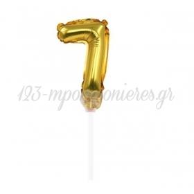 ΜΠΑΛΟΝΙ FOIL 7''(18cm) ΑΡΙΘΜΟΣ ΤΟΥΡΤΑΣ 7 ΧΡΥΣΟ - ΚΩΔ:206418-7-BB