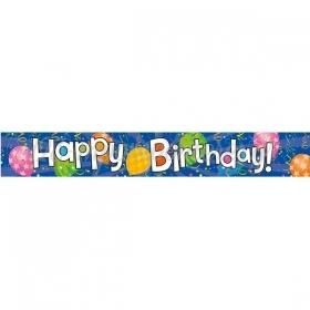 BANNER FOIL HAPPY BIRTHDAY ΜΠΛΕ- ΚΩΔ:206415-BB