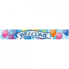 BANNER FOIL HAPPY WELCOME - ΚΩΔ:206412-BB