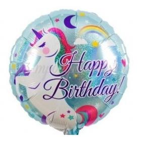 ΜΠΑΛΟΝΙ FOIL 18''(45cm) HAPPY BIRTHDAY ΜΟΝΟΚΕΡΟΣ - ΚΩΔ:206369-BB