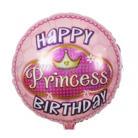 ΜΠΑΛΟΝΙ FOIL 18''(45cm) HAPPY BIRTHDAY PRINCESS - ΚΩΔ:206366-BB