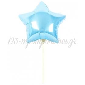 """ΜΠΑΛΟΝΙ FOIL 5""""(12cm) MINI SHAPE ΑΣΤΕΡΑΚΙ BABY BLUE - ΚΩΔ:207128-BLUE-BB"""