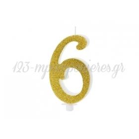"""Χρυσο Κερακι Αριθμος """"6"""" - ΚΩΔ:Scu4-6-019-Bb"""