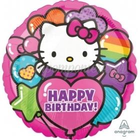 """ΜΠΑΛΟΝΙΑ FOIL 18""""(45cm) HELLO KITTY HAPPY BIRTHDAY - ΚΩΔ:529443-BB"""