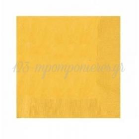 Χαρτοπετσετες Μικρες Κιτρινο - ΚΩΔ:60215-09-Bb