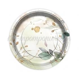 Χαρτινα Πιατα Φαγητου Φυλλα & Glitter - ΚΩΔ:Pg-Tpfl-Bb