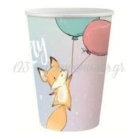 ΧΑΡΤΙΝΑ ΠΟΤΗΡΙΑ HAPPY BIRTHDAY FOX - ΚΩΔ:PG-KHBL-BB