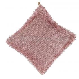 Μαξιλαρακι Με Γαζα Ροζ Χρυσο Τετραγωνο 10X10Cm - ΚΩΔ:M1874-Ad