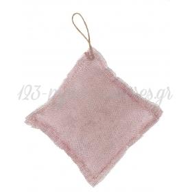 Μαξιλαρακι Με Γαζα Ροζ Χρυσο Τετραγωνο 14X14Cm - ΚΩΔ:M1876-Ad