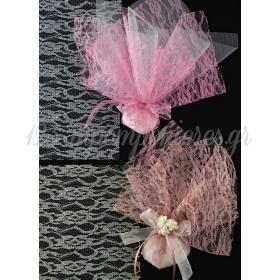 Μαντηλι Δαντελα Σχεδιο Λουλουδι 40X40Cm - ΚΩΔ:M8373-Ad