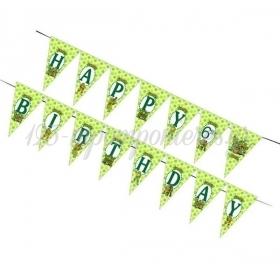 Σημαιακια Τριγωνακια Happy Birthday Χελωνονιντζακια - ΚΩΔ:P25920-Bb