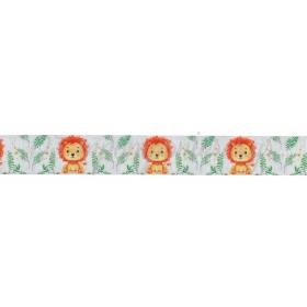 Κορδελα Γκρο Με Τυπωμα Λιονταρακι 2.5Cmx45.7Μ - ΚΩΔ:M3456-Ad