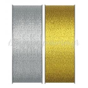Κορδελα Ασημι - Χρυσο 3.8Cmχ50Μ - ΚΩΔ:M7501-Ad