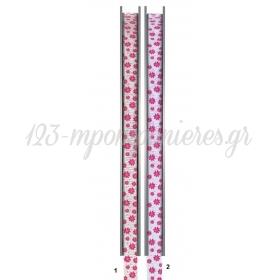 Κορδελα Γκρο Με Σχεδια Λουλουδια 91.4Μ - ΚΩΔ:M9123-Ad