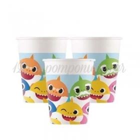 Χαρτινα Ποτηρια Baby Shark - ΚΩΔ:92541-Bb