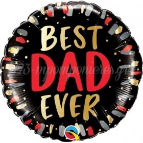 """ΜΠΑΛΟΝΙ FOIL 18""""(46cm) BEST DAD EVER - ΚΩΔ:98428-BB"""