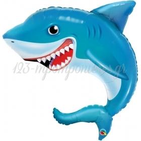 """ΜΠΑΛΟΝΙ FOIL 36""""(92cm) ΚΑΡΧΑΡΙΑΣ SMILIN' SHARK - ΚΩΔ:97525-BB"""