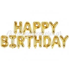 ΜΠΑΛΟΝΙΑ FOIL 14''(35cm) ΧΡΥΣΟ HAPPY BIRTHDAY - ΚΩΔ:206360-4-BB
