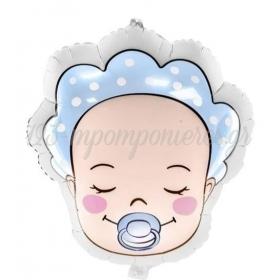 ΜΠΑΛΟΝΙΑ FOIL 18''(45cm) BABY BOY - ΚΩΔ:FB63-001-BB