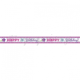 BANNER FOIL HAPPY BIRTHDAY PINK & TEAL 7.62m - ΚΩΔ:120162-BB