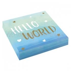 Χαρτοπετσετες Oh Baby Boy Hello World - Baby Shower - ΚΩΔ:9906907-Bb