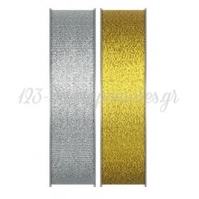 Κορδελα Ασημι - Χρυσο 2.5Cmχ50Μ - ΚΩΔ:M7501-1-Ad