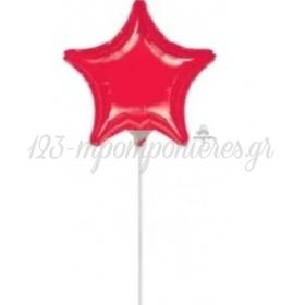 ΜΠΑΛΟΝΙ FOIL 9''(23cm) MINI SHAPE ΑΣΤΕΡΙ ΚΟΚΚΙΝΟ - ΚΩΔ:516692-BB