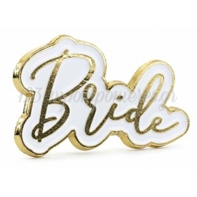 ΜΕΤΑΛΛΙΚΗ ΧΡΥΣΗ ΚΑΡΦΙΤΣΑ BRIDE 3.5X2cm  - ΚΩΔ:PN3-BB