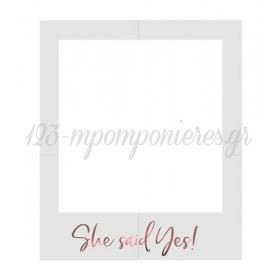 ΚΟΡΝΙΖΑ ΓΙΑ ΦΩΤΟΓΡΑΦΙΕΣ ΓΑΜΟΥ SHE SAID YES - ΚΩΔ:PBF3-019R-BB