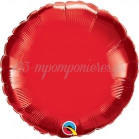 ΜΠΑΛΟΝΙ FOIL 18''(45cm) RUBY RED ΣΤΡΟΓΓΥΛΟ - ΚΩΔ:22634-BB