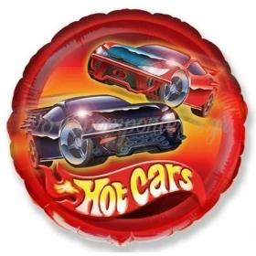 """ΜΠΑΛΟΝΙ FOIL 18""""(45cm) HOT CARS - ΚΩΔ:401543-BB"""