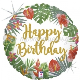 "ΜΠΑΛΟΝΙ FOIL 18""(46cm) TROPICAL BIRTHDAY - ΚΩΔ:36805-BB"