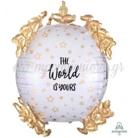 ΜΠΑΛΟΝΙ FOIL 20''(50cm) ULTRASHAPE THE WORLD IS YOURS - ΚΩΔ:540908-BB