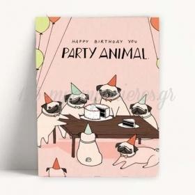 ΚΑΡΤΑ ΓΕΝΕΘΛΙΩΝ PARTY ANIMALS - ΚΩΔ:XK14001K-60-BB