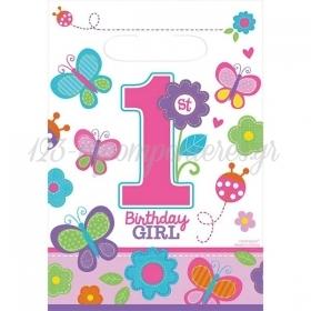 ΣΑΚΟΥΛΑΚΙΑ ΓΙΑ ΔΩΡΑΚΙΑ 1ST BIRTHDAY GIRL - ΚΩΔ:370140-BB
