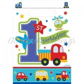 ΣΑΚΟΥΛΑΚΙΑ ΓΙΑ ΔΩΡΑΚΙΑ 1ST BIRTHDAY BOY - ΚΩΔ:370141-BB