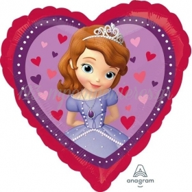 """Μπαλονι Foil 18""""(45Cm) Καρδια Πριγκιπισσα Σοφια - ΚΩΔ:529840-Bb"""