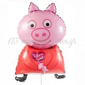 """ΜΠΑΛΟΝΙ FOIL 34""""(85cm) PEPPA PIG I LOVE YOU - ΚΩΔ:901809-1-BB"""